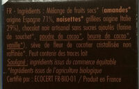 Pâte à Tartiner Bio Chocolat Sans Sucres Ajoutés - Ingredienti - fr