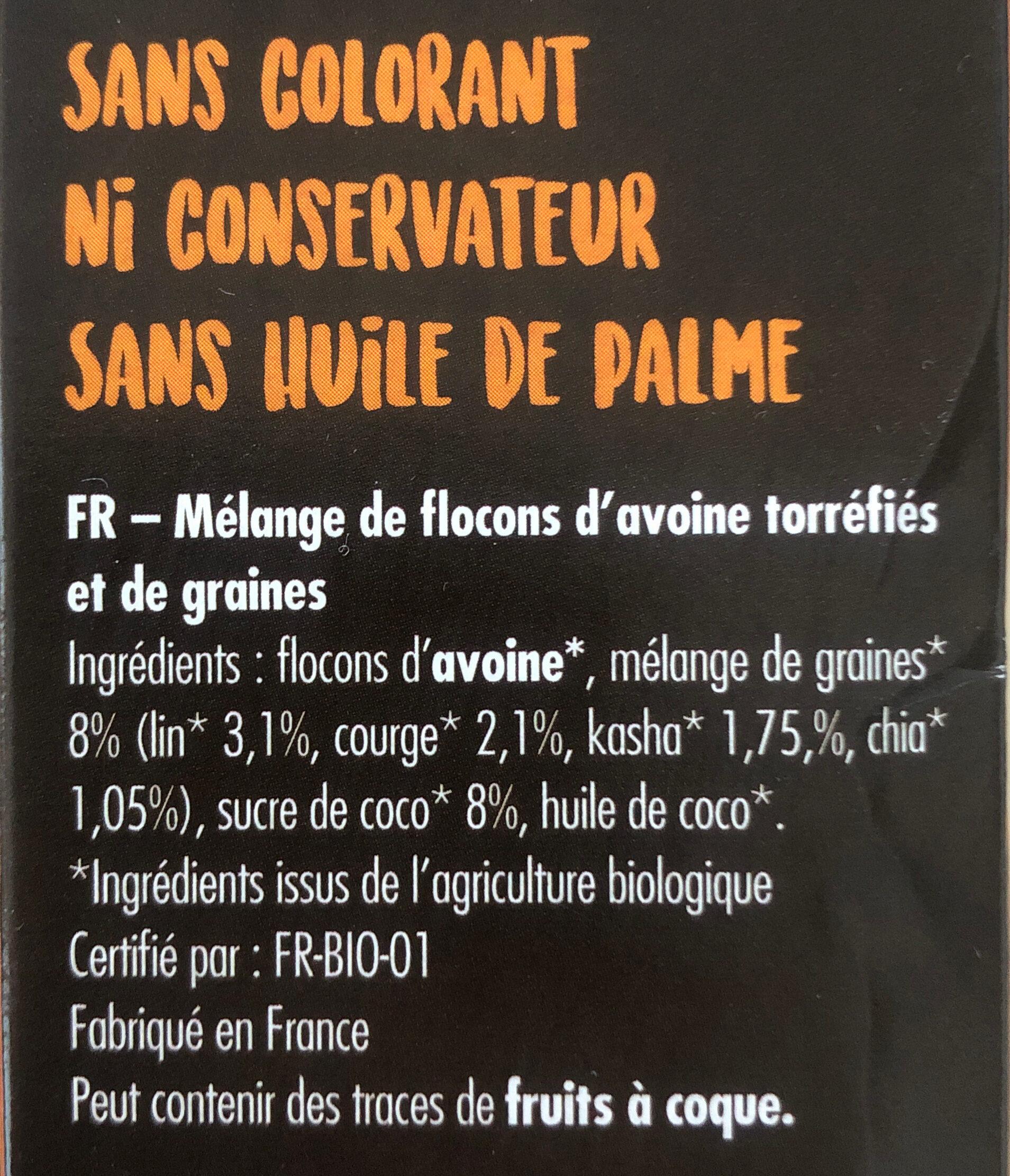 Granola Super Graines - Ingrédients - fr