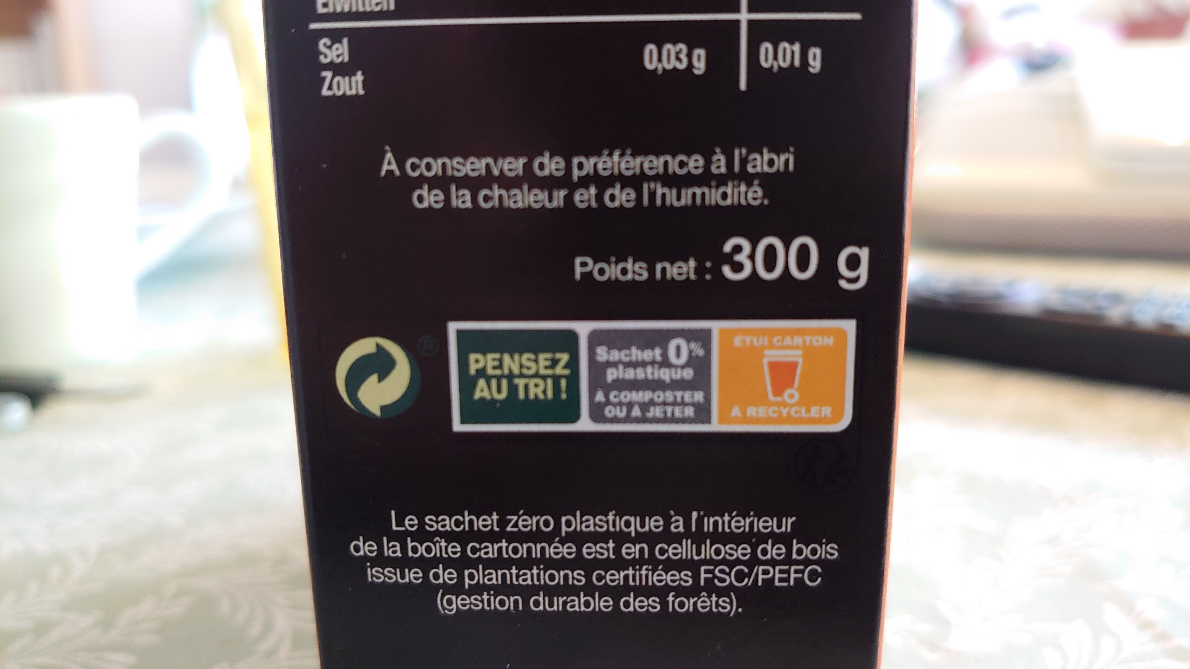 Granola Super Graines - Instruction de recyclage et/ou informations d'emballage - fr