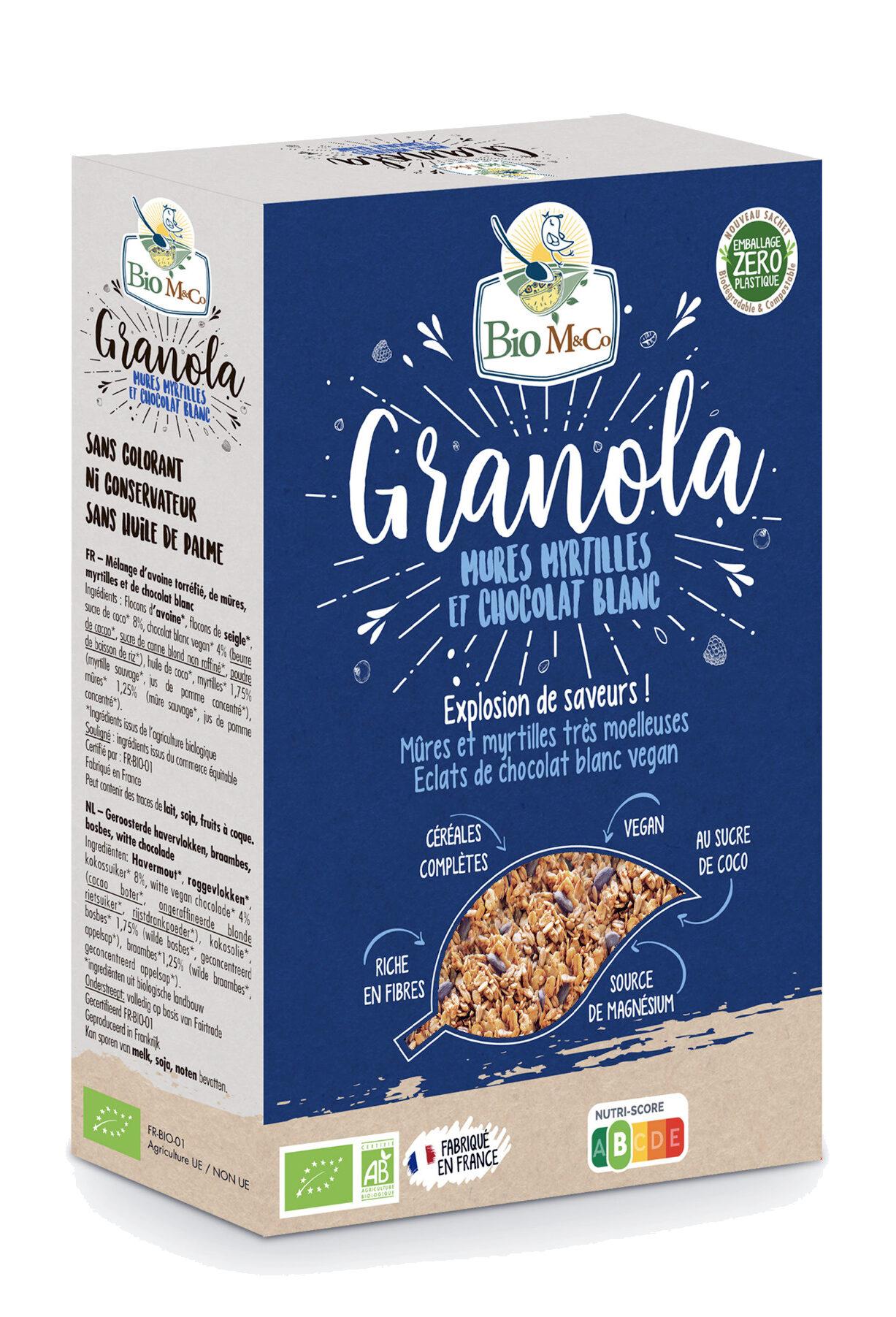 Granola Mûres Myrtilles et Chocolat Blanc - Produit