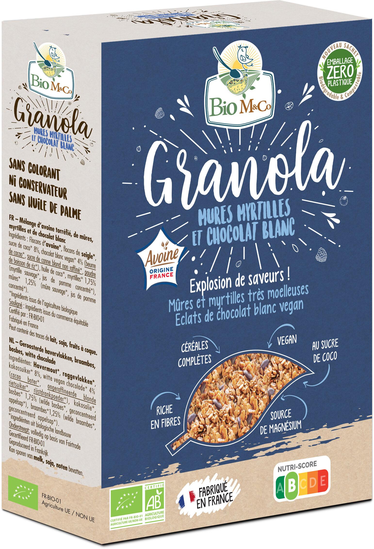 Granola Mûres Myrtilles et Chocolat Blanc - Produit - fr
