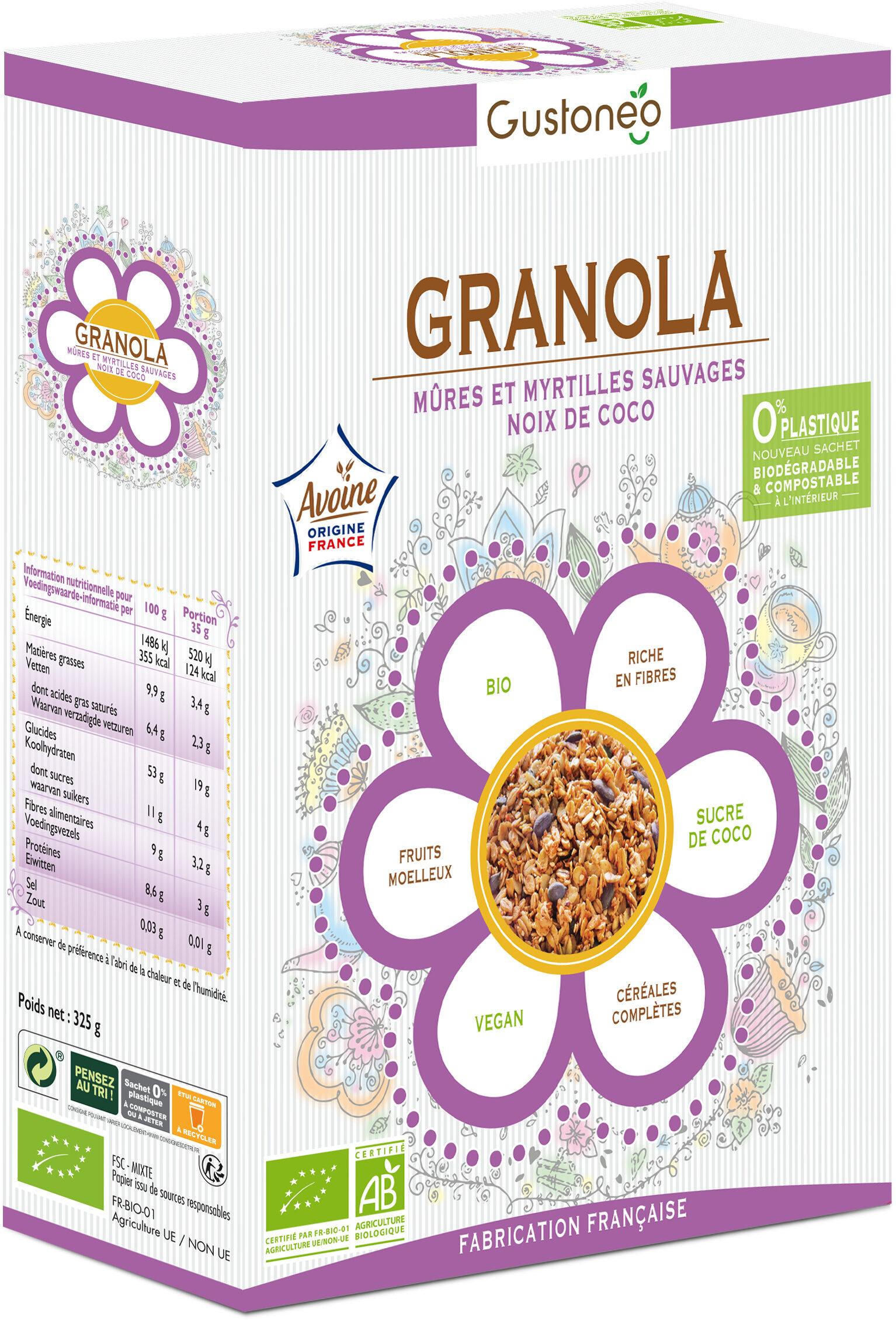 Granola Mûres et Myrtilles sauvages et Noix de Coco - Produit - fr