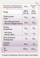 Granola Mûres et Myrtilles sauvages et Noix de Coco - Informations nutritionnelles - fr