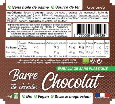 Barre de céréales - Ingrédients - fr