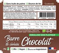 Barre de céréales Chocolat - Nutrition facts