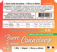 Barre de céréales Canneberge - Ingrédients - fr