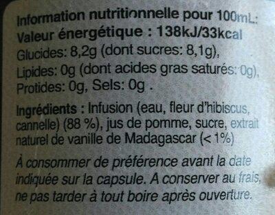 Biss Mariage Blanc - Valori nutrizionali - fr