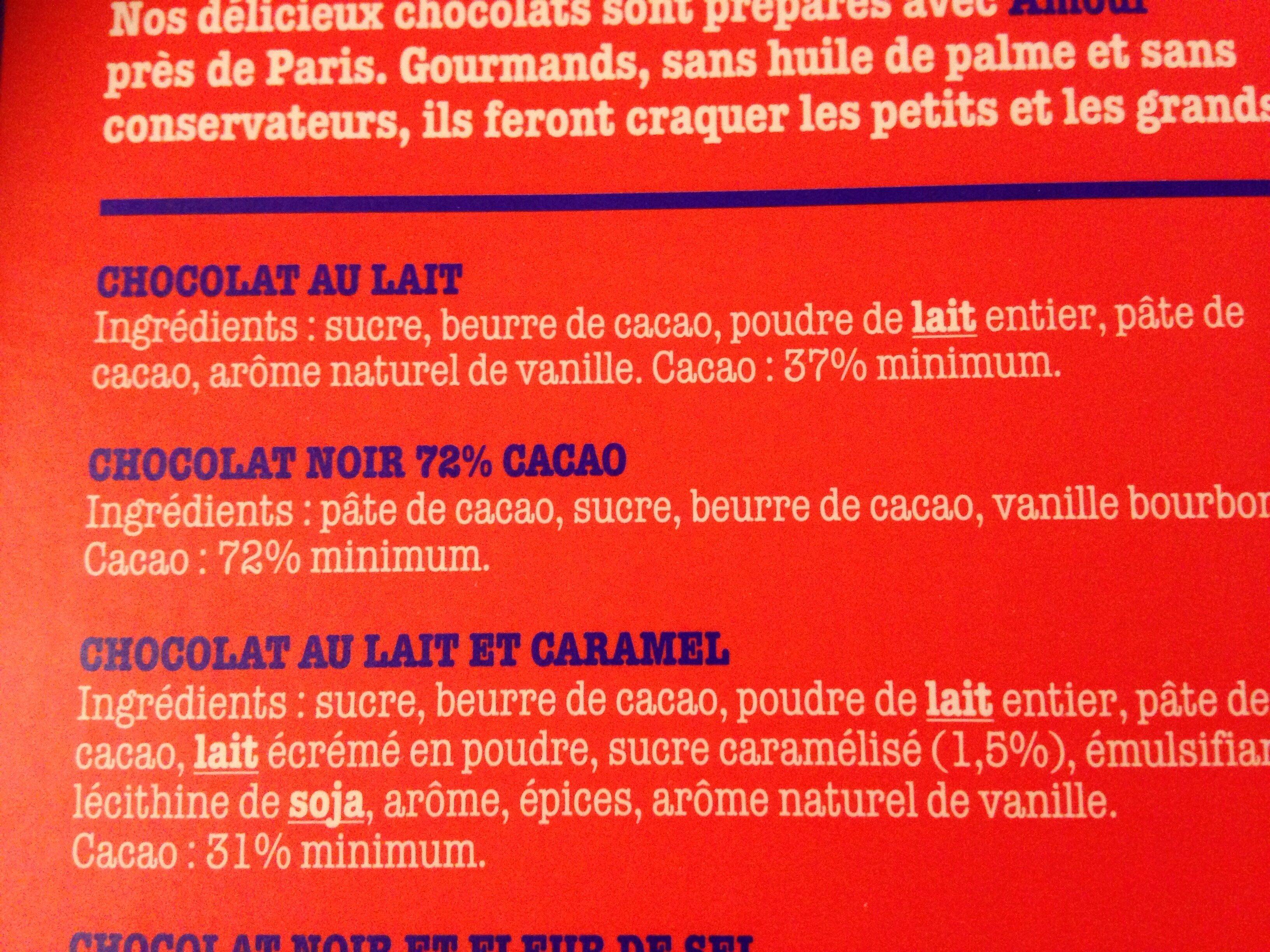 Le chocolat des Français - Ingrédients - fr