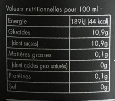 Wati Bulle - Informations nutritionnelles