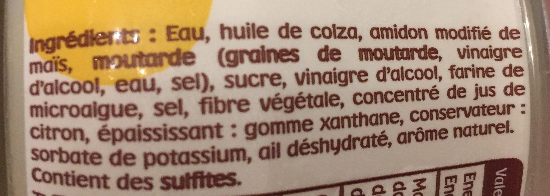 Supernaise - Sauce super fine - Ingrédients - fr