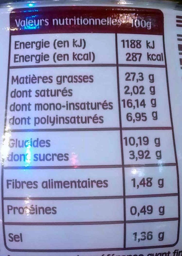 Supernaise - Sauce super fine - Informations nutritionnelles - fr