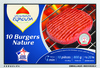10 Burgers Nature (20% MG) Surgelés - Product
