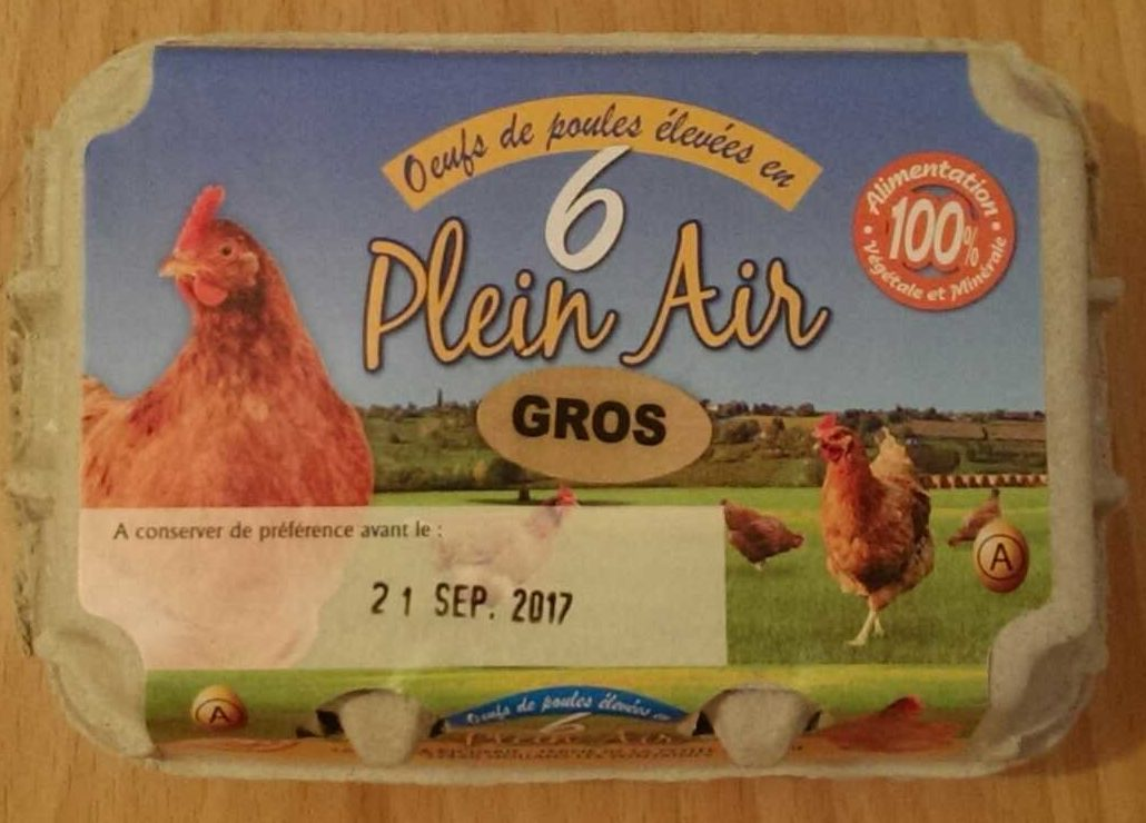 Oeufs de Poule ×6 plein air - Product - fr