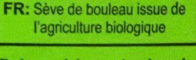 Sève de Bouleau - Ingredienti - fr