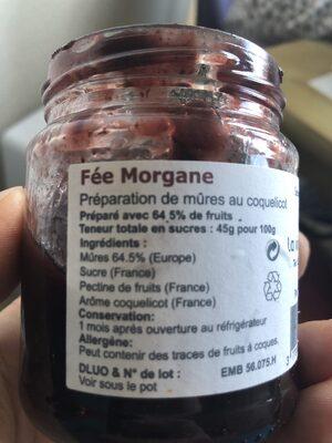 Fée Morgane - Ingredients