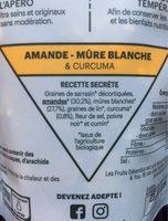 Crackets Mûre Blanche, Amande et Curcuma - Ingrediënten - fr
