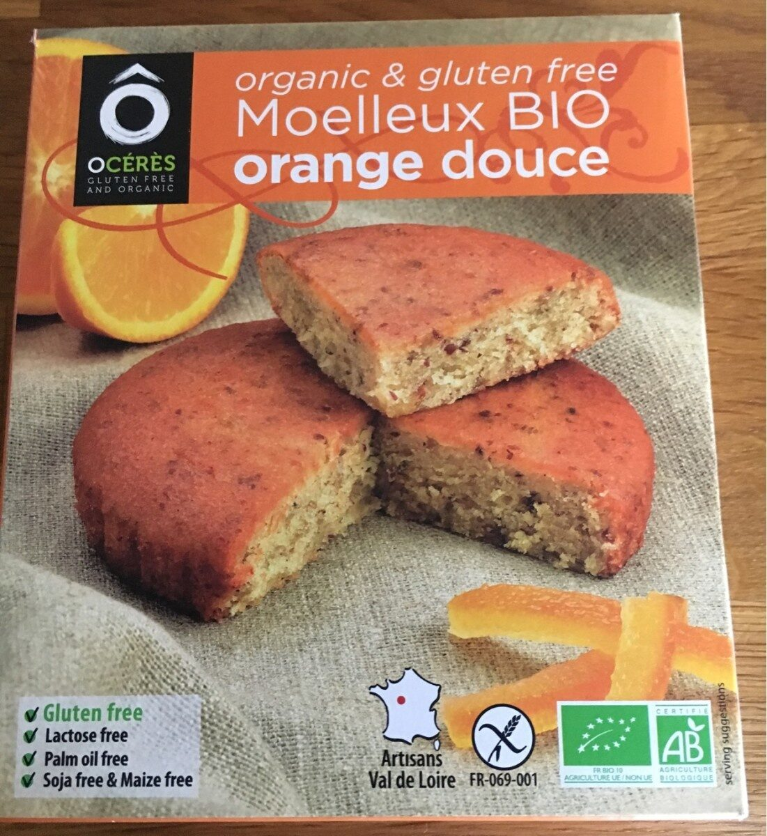 Moelleux Bio orange douce - Product