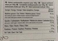Fondant noir intense - Informations nutritionnelles - fr