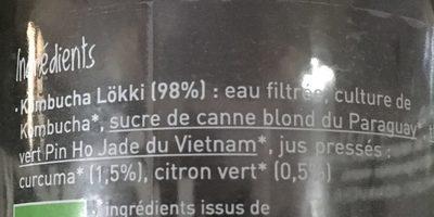 Kombucha - Ingrediënten - fr