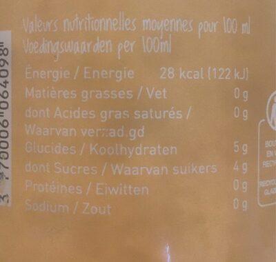 Kombucha - Voedingswaarden - fr