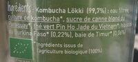 Lokki Kombucha - Ingrediënten - fr