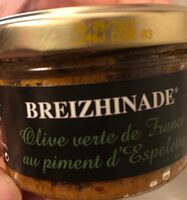 Olives vertes de France au piment d'Espelette - Produkt