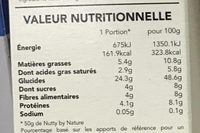 Granola Nutty by Nature - Cajou, Coco & Noisettes - Nutrition facts