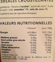 Granola Happy Love - Voedigswaarden