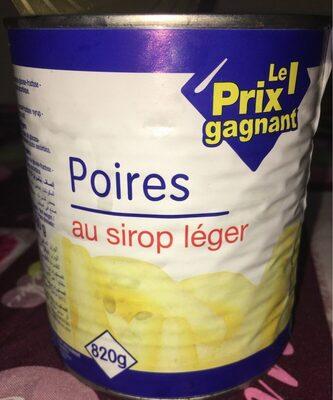 Poire au sirop léger - Produit - fr