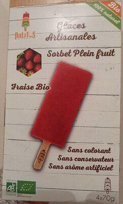 Sorbet plein fruit fraise - Product