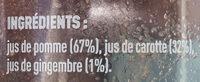 Jus Carotte Pomme Gingembre - Ingredients - fr