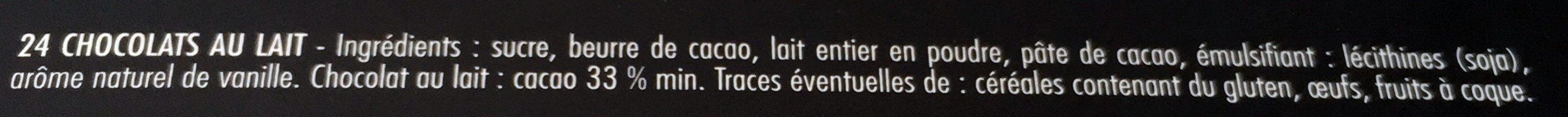 Calendrier de l'avent Conforama - Ingrédients - fr