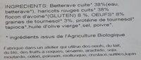 Burger Végétal Betteraves & Haricots Rouges - Ingredients - fr
