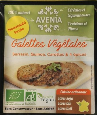Galette végétale sarrasin, quinoa, carottes, mélange de 4 épices - Product