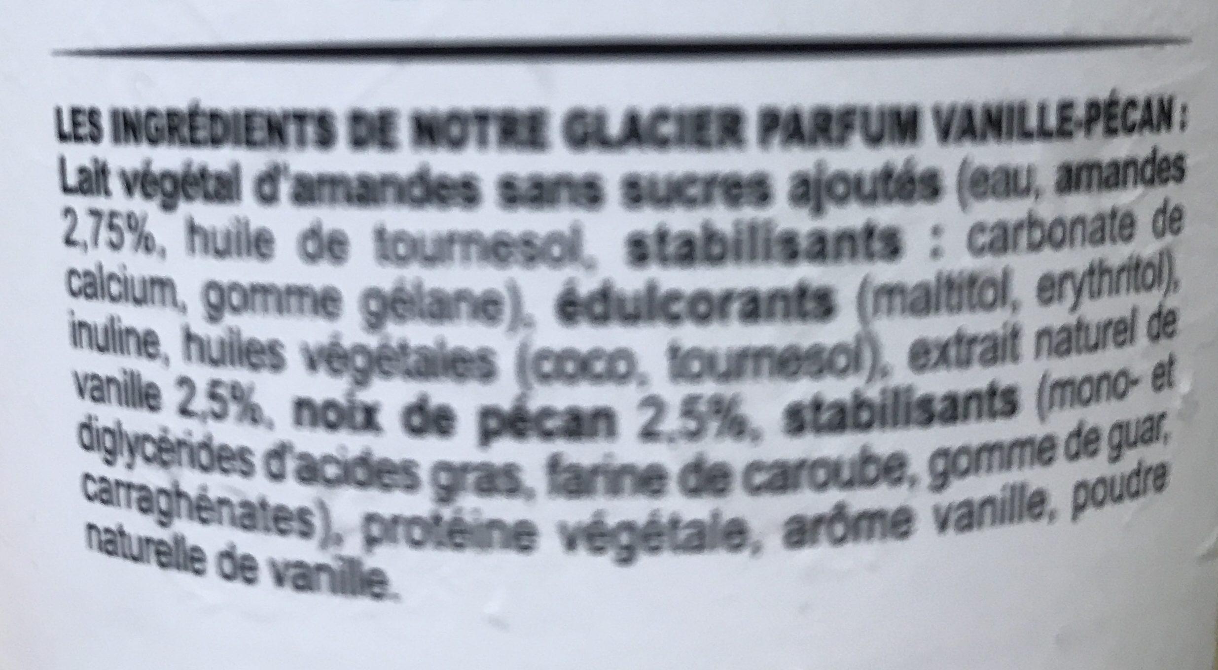 Glace vanille noix de pécan - Ingrédients - fr