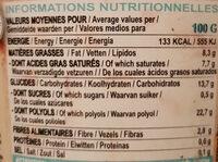 Glace vanille noix de pécan - Informations nutritionnelles - fr