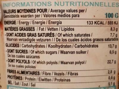Glace vanille noix de pécan - Nährwertangaben - fr