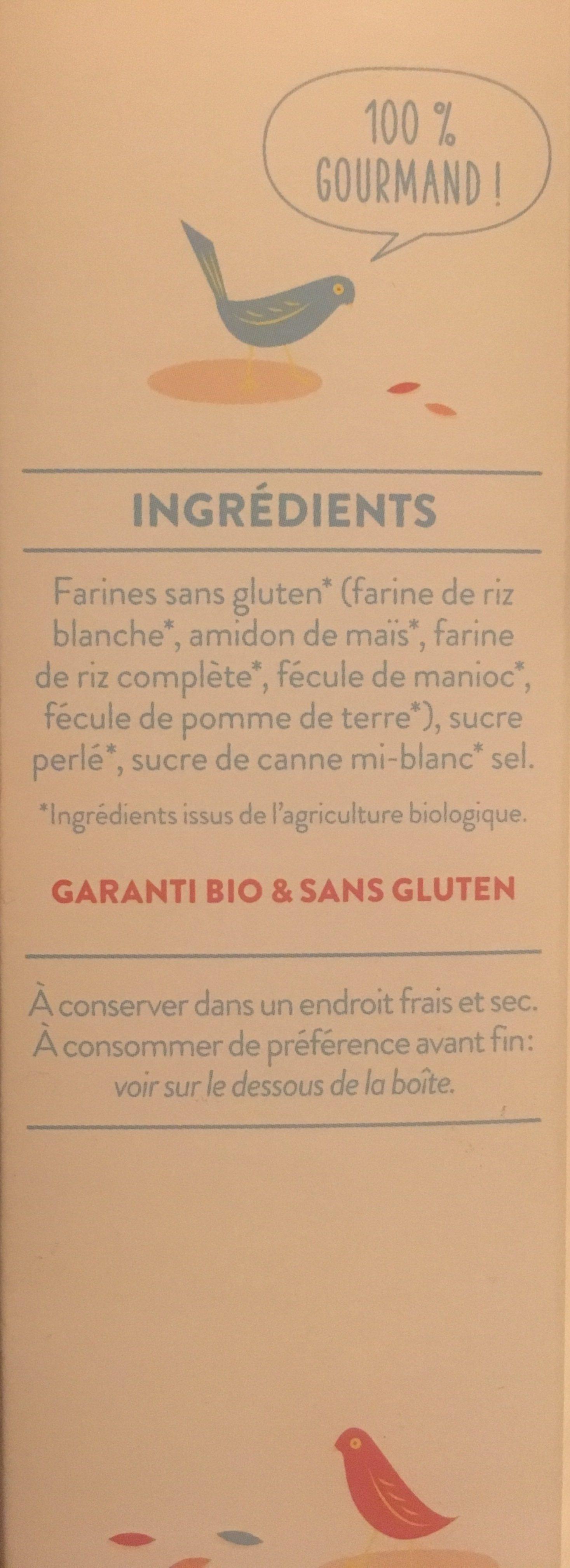 Preparation pour chouquettes - Ingredients