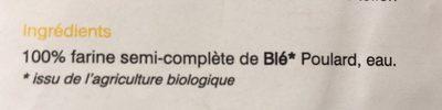 Creste à Base De Blé Poulard L'odysée D'engrain 500 G - Ingrediënten - fr