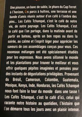Cafes tchanqué - Ingredients