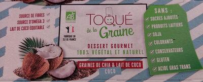 Dessert gourmet graines de chia et lait de coco - Product