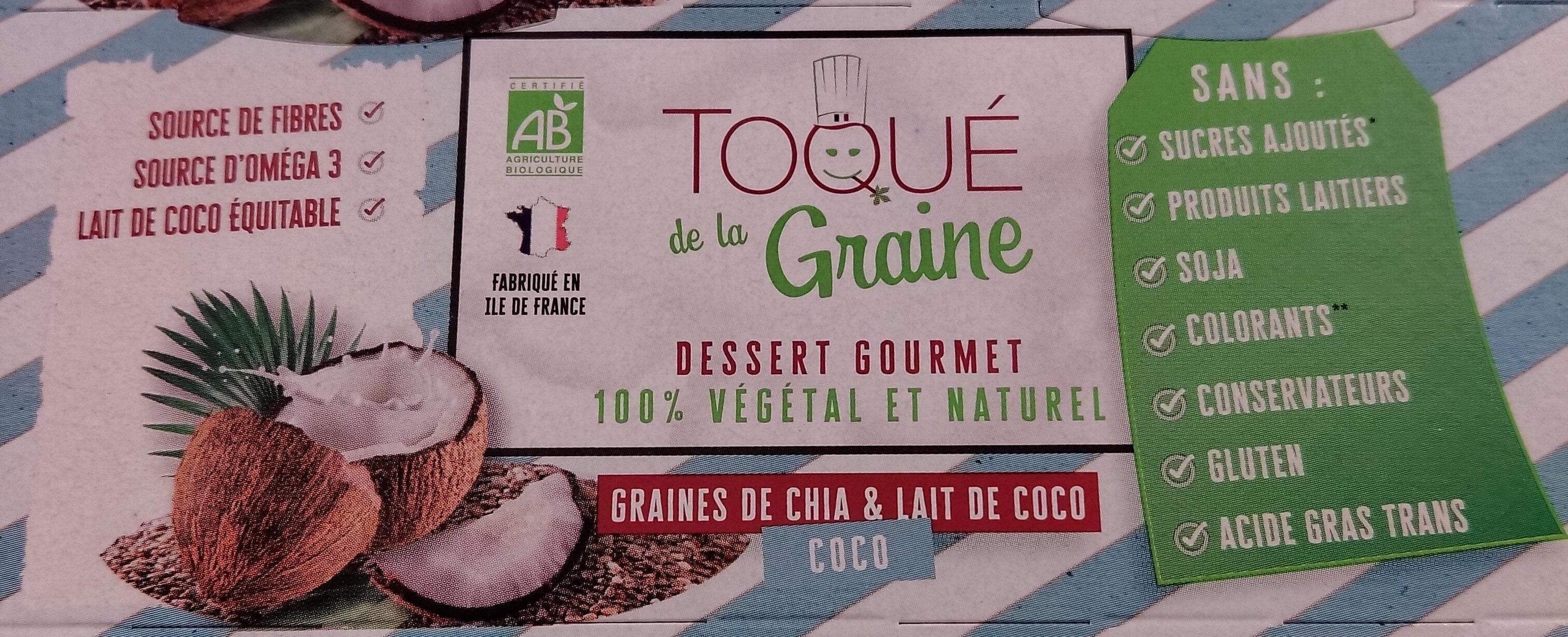 Dessert gourmet graines de chia et lait de coco - Product - fr