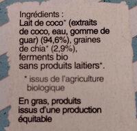 Dessert gourmet graines de chia et lait de coco - Ingredients - fr