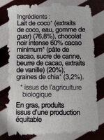 Dessert gourmet 100% végétal et naturel - Ingredients - fr