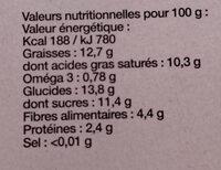 Dessert Gourmet 100% Végétal Et Naturel - Nutrition facts - fr