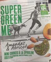 Cookies Spiruline/Amande/Abricot - Produit - fr