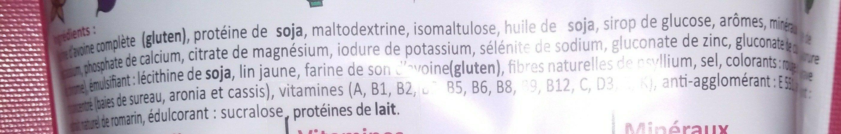 Smeal saveur fruits des bois - Ingredients