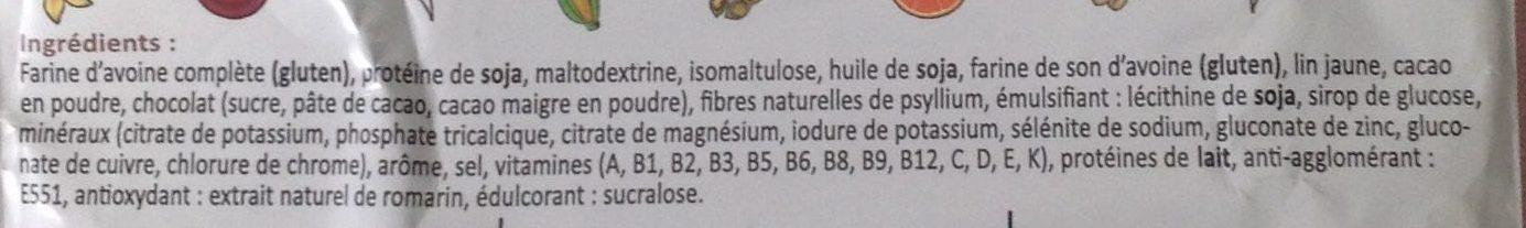 Smeal saveur Choc' Avoine - Ingrediënten