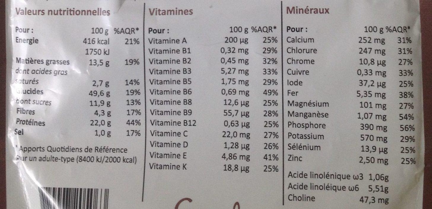Smeal saveur Choc' Avoine - Voedingswaarden