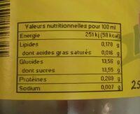 Nectar myrtille - Nutrition facts - fr